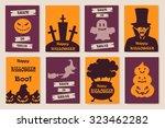 halloween postcards | Shutterstock .eps vector #323462282