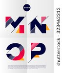 typographic alphabet in a set.... | Shutterstock .eps vector #323462312