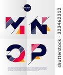 typographic alphabet in a set.... | Shutterstock .eps vector #323462312