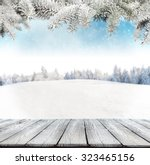winter background with pile of... | Shutterstock . vector #323465156