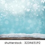 winter background with pile of... | Shutterstock . vector #323465192