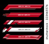 red lower third banner bar... | Shutterstock .eps vector #323465576