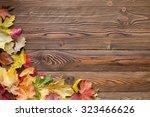 Fallen Leaves On Wooden...