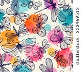 seamless pattern with... | Shutterstock .eps vector #323469512
