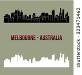 melbourne  australia | Shutterstock .eps vector #323471462