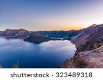 Crater Lake When Sunset On...