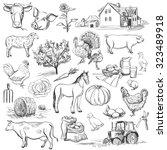 Farm Collection   Hand Drawn...