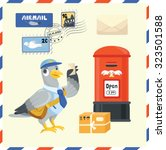 Pigeon Postman Delivery Mail