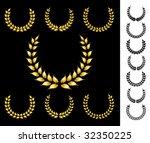 golden crowns vector collection | Shutterstock .eps vector #32350225