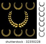 golden crowns collection | Shutterstock . vector #32350228