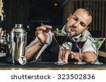 expert barman is making... | Shutterstock . vector #323502836