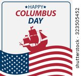 vector illustration columbus... | Shutterstock .eps vector #323505452