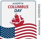 vector illustration columbus... | Shutterstock .eps vector #323505452