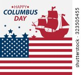 vector illustration columbus... | Shutterstock .eps vector #323505455