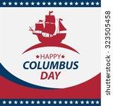 vector illustration columbus... | Shutterstock .eps vector #323505458