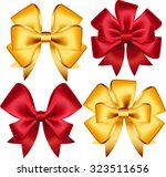 set of colorful gift bows.... | Shutterstock .eps vector #323511656