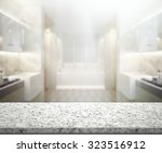 table top and blur interior of...   Shutterstock . vector #323516912
