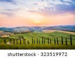 crete senesi  tuscany  italy. a ...   Shutterstock . vector #323519972