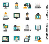 e learning and online knowledge ... | Shutterstock .eps vector #323523482
