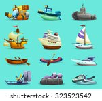 Ships And Boats Realistic Icon...