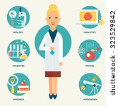 profession  scientist. vector... | Shutterstock .eps vector #323529842