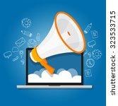 megaphone loudspeaker marketing ... | Shutterstock .eps vector #323533715