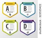 infographic design template.... | Shutterstock .eps vector #323535422