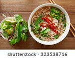 vietnanese beef pho with... | Shutterstock . vector #323538716