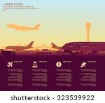 airport | Shutterstock .eps vector #323539922