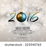 2016 happy new year background... | Shutterstock .eps vector #323540765