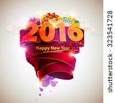 happy new year 2016   Shutterstock .eps vector #323541728