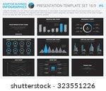 set of editable infographic... | Shutterstock .eps vector #323551226