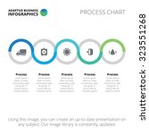 process chart. business data... | Shutterstock .eps vector #323551268