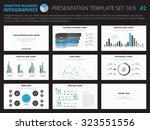 set of editable infographic... | Shutterstock .eps vector #323551556