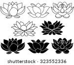 lotus flowers black and white...