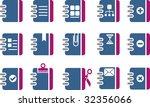 vector icons pack   blue... | Shutterstock .eps vector #32356066