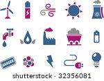 vector icons pack   blue... | Shutterstock .eps vector #32356081