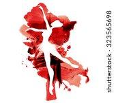 ballerina in dance. watercolor... | Shutterstock .eps vector #323565698
