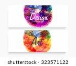 creative artistic design... | Shutterstock .eps vector #323571122