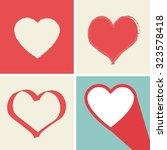 heart icons set  ideal for... | Shutterstock .eps vector #323578418