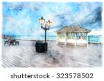 Watercolour Painting Of Dusk O...
