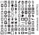 set of hundred frames | Shutterstock .eps vector #32357911