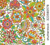 seamless vector floral pattern. ... | Shutterstock .eps vector #323580578