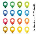 set of map pins   vector... | Shutterstock .eps vector #323584448