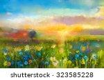 Oil Painting  Flowers Dandelio...