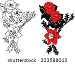 hungarian folk art | Shutterstock .eps vector #323588012