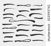 set of underlines lettering... | Shutterstock .eps vector #323593742