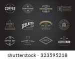 set of vector coffee logotype... | Shutterstock .eps vector #323595218