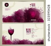 invitation template for event... | Shutterstock .eps vector #323595428
