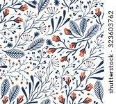 vector floral seamless pattern... | Shutterstock .eps vector #323603762
